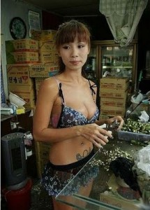 Betel Nut Worker in Taiwan